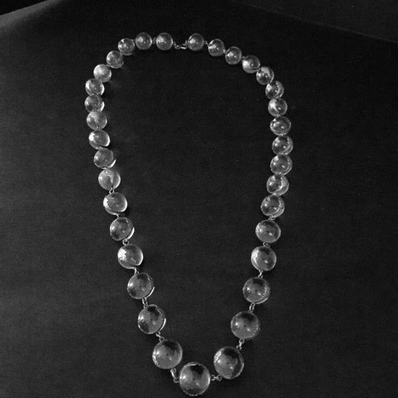 Pools of Light Crystal Art Deco 35 orb Necklace - image 3