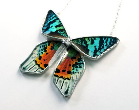 Sunset Moth / Butterfly Jewelry / Butterfly Necklace