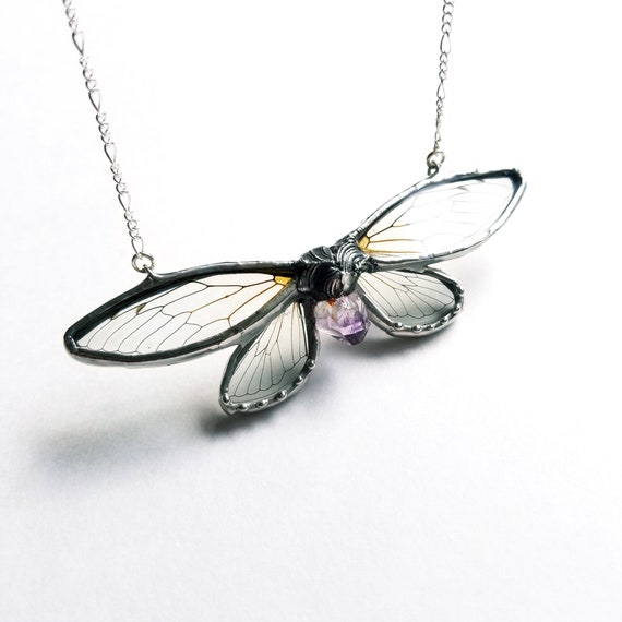 Cicada Necklace/ Butterfly Necklace / Butterfly Jewelry