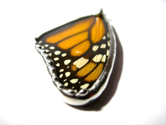Real Monarch Butterfly Pendant