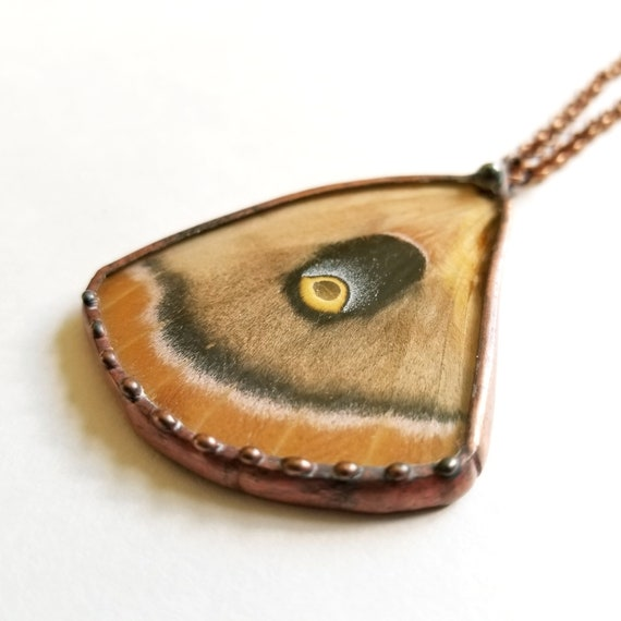 Moth / Butterfly Wing Jewelry /Polyphemus Moth / Wing Pendant