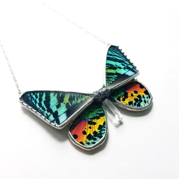 Butterfly Jewelry / Butterfly Necklace / Blue butterflyNecklace