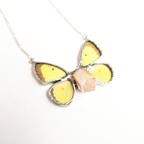 Butterfly Jewelry / Butterfly Necklace / Blue butterflyNecklace