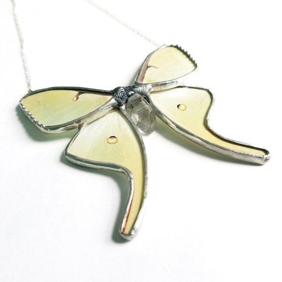 Luna Moth / Jewelry / Luna Necklace / Butterfly Necklace