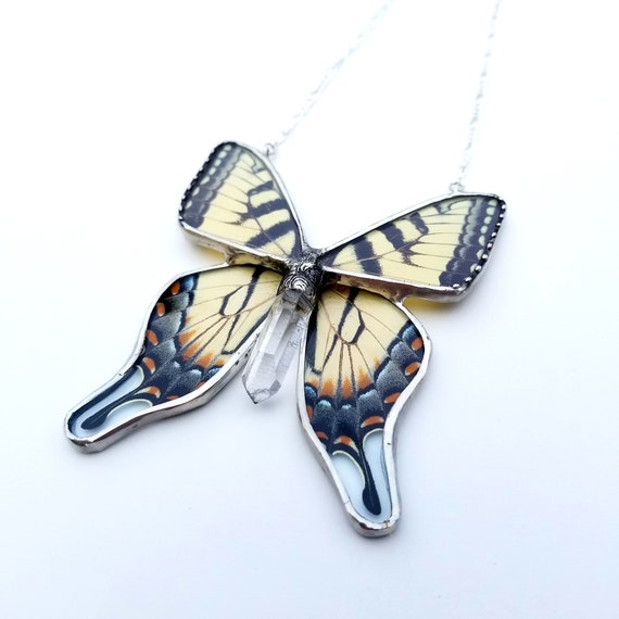 Tiger Swallowtail / Butterfly Jewelry / Butterfly Necklace