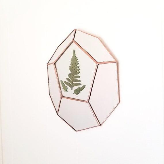 Terrarium Mirror / Wall Hanging / Wall Art / Geometric / Home Decor