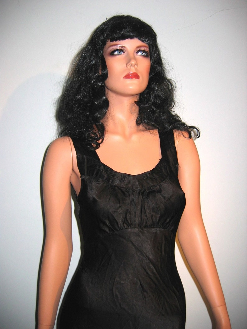 Black Brand New Bettie Page Pin up 40/'s Glam Costume Wig