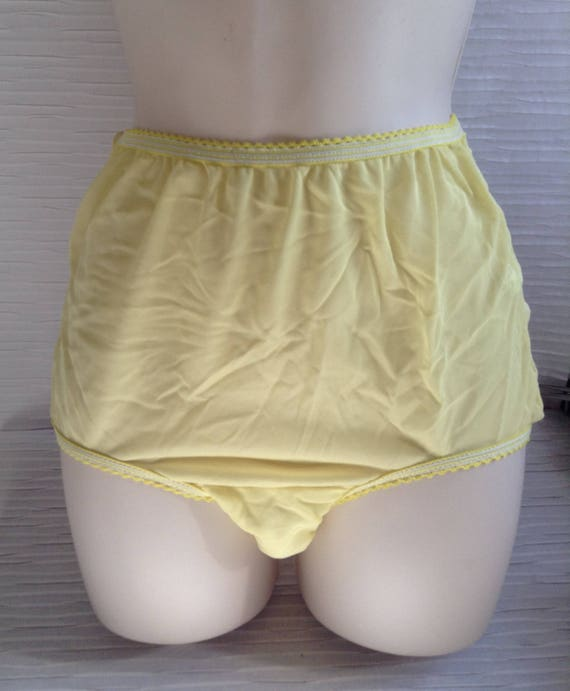 7bf97d84e Yellow Panties. Vintage Sears. Made in USA. Mod Lolita Mad Men
