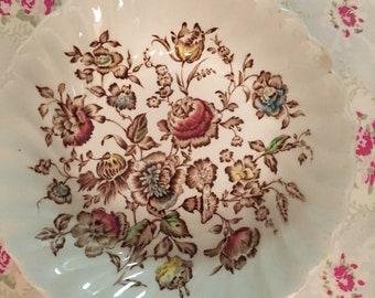 Staffordshire bouquet bowl