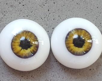 12mm natural blended bronze urethane eyes
