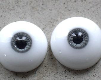 8/3mm size urethane eyes dark gray