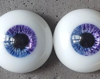 14mm urethane eyes blue with violet