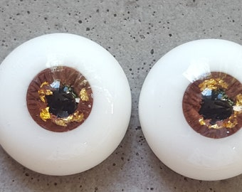 12mm bronze with gold urethane eyes with small iris