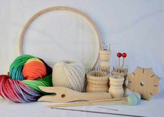 Grandes De Madera Deluxe desmontar Tejer Telar artesanía artículo Niñas Regalo