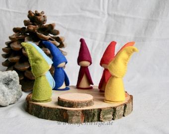 Waldorf Calendar Rainbow Gnome colour day Days Of The Week Calendar Peg Doll  seasons tabel