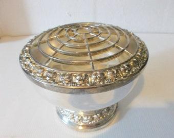 Vintage English Silver Posey Flower Bud Vase Circa 1950s Wedding Table Decor