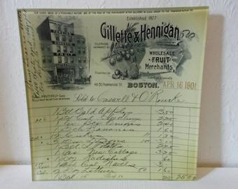 Antique Boudoir Vanity Tray Gillette and Hennigan