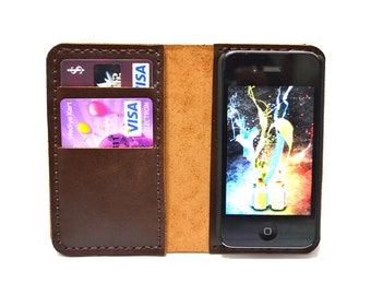 iphone 4 wallet, gift for men, personalized mens gift, gift for women, boyfriend gift, gift for him, mens gift, brother gift, phone case