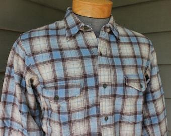 9681a5992 vintage 50's - 60's -Penney's- 'Towncraft' Men's Long Flannel shirt.