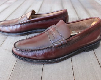 39d49124284 vintage 1970 s -Florsheim- Beef roll Penny Loafers. Like  NeW . Antiqued  Oxblood - All leather. Made in USA. approx. Men s Size 8 1 2 D