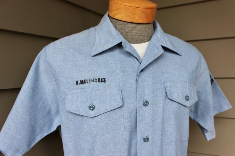 ee7ca4684d Vintage 1980 s USN Navshirt Men s short sleeve work