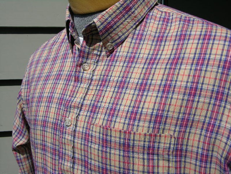 6945c2093 Vintage de los años 1980 JCPenney   el zorro Mens camisa