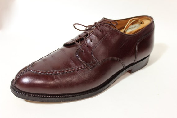 cca3569cf65fa REDUCED...newer vintage -Alden- shoes Men's Norwegian HS split toe blucher.  Model 964 - Burgandy calf. US Size 10 D