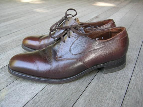 vintage 60's - 70's Men's Florsheim Plain Toe Derb