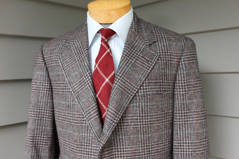 8e5cb98a6ed7c Newer vintage 90's Norman Hilton Tweed sport coat. 3 / 2 | Etsy