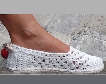 Lace Slippers/Espadrilles - Crochet Pattern - Instant Download Pdf