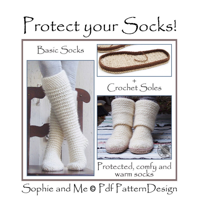 987a73d80d62c E-BOOK for North Pole Socks included CROCHET-Soles - Instant Download Pdfs