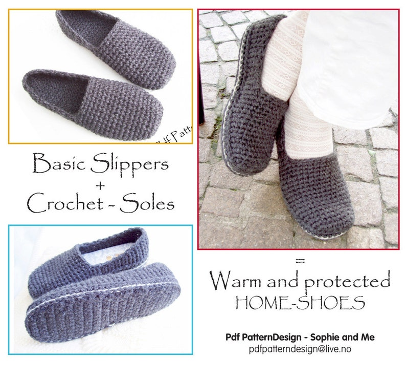 816987ecb4fd6 E-BOOK for Plain Basic SC-Slippers included CROCHET-Soles - Instant Download