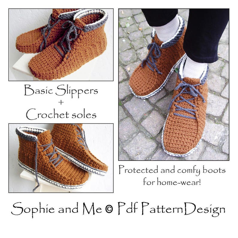 c741614716852 E-Book for Sophie's Alpine Boots - included Customized CROCHET-Soles -  Instant Download Pdf