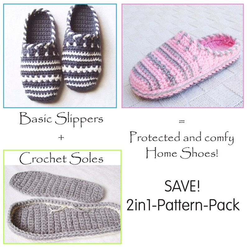 72d92d78b19b3 E-BOOK for SWEATER Clog-Slippers + CROCHET-Soles - Instant Download Pdfs