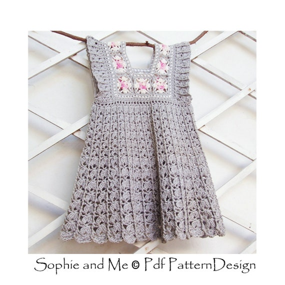 Granny Square Yoke Dress Crochet Pattern Instant Download | Etsy