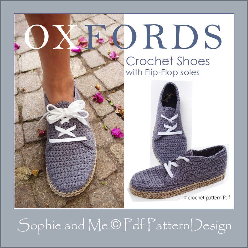 Flip Flop Oxfords Crochet Pattern Instant Download Etsy