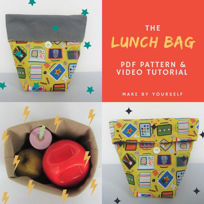 Lunch bag  PDF Pattern & Video Tutorial image 0