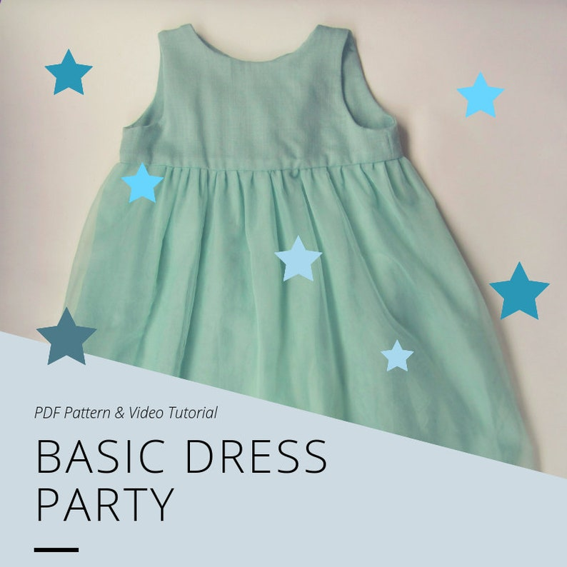Basic Dress  PDF Pattern and Video Tutorial image 0