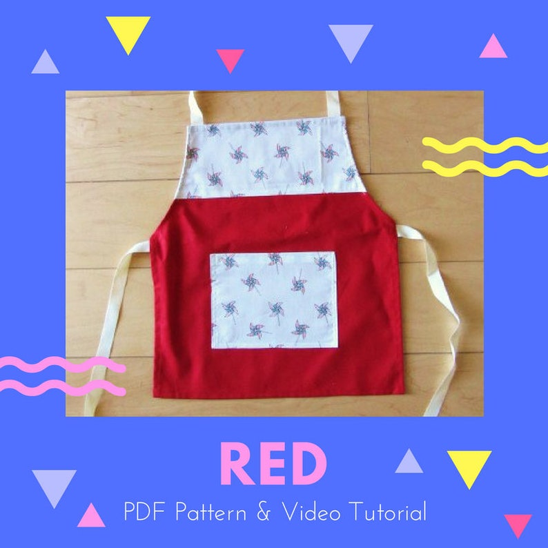 Apron: PDF pattern and video tutorial image 0