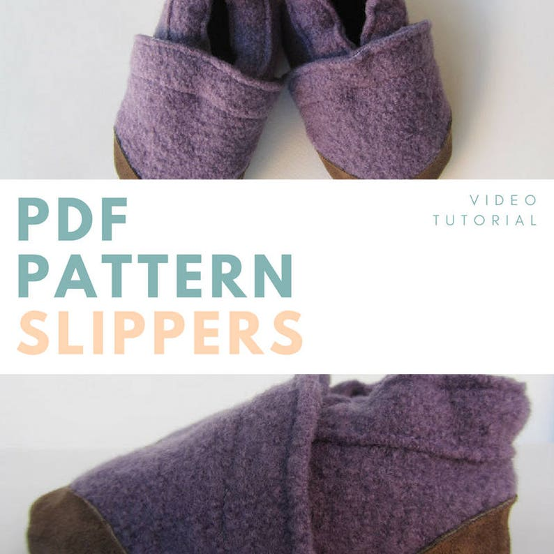 Winter babies & kids slippers: PDF pattern and video tutorial image 0