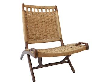 Vintage Hans Wegner Style Rope Folding Lounge Chair  sc 1 st  Etsy & Hans wegner | Etsy