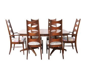 Vintage Mid Century Modern Kent Coffey Dining Room Table And Cat Eye Chairs