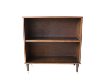 Vintage Mid Century Modern Low Bookshelf