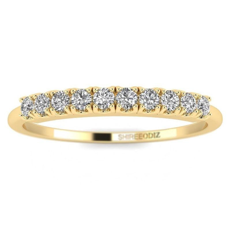 8e3f7c84cc 14K Thin Diamond Yellow Gold Promise Ring | Etsy