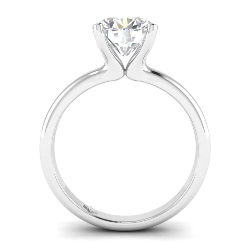0.50 Carat Black Enhanced Diamond 14K Solid Yellow Gold 6 Prong Solitaire Ring