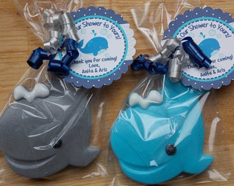 25 WHALE SOAP {Favors} - Baby Shower Soap Favor, Nautical Birthday Party Soap, Beach Wedding, Baptism, Gender Reveal, Ocean Fish Soap Favor