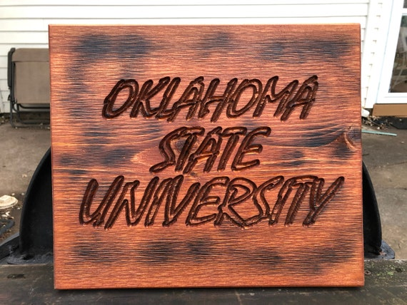 Oklahoma State University wood sign