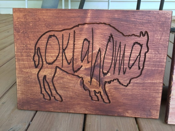 Large Oklahoma Buffalo Sign