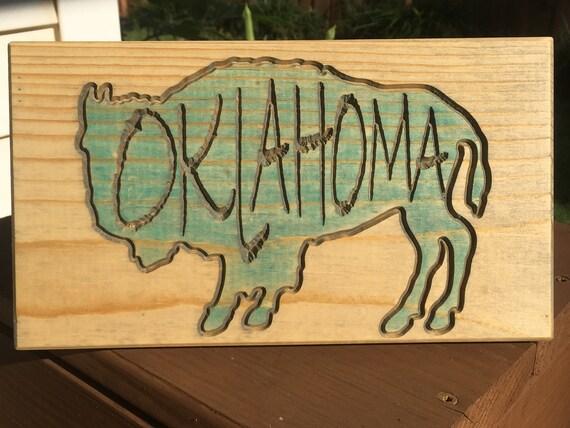 Small Tabletop Oklahoma bison buffalo