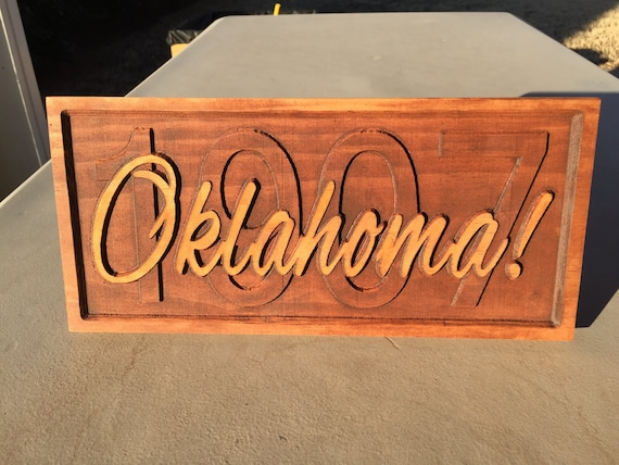 Oklahoma statehood year sign